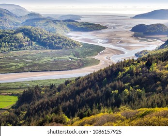 View over the Mawddach estuary from the new precipice walk near Barmouth, north Wales