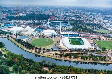 View over Melbourne stadium