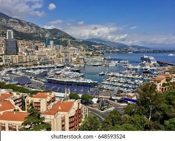 View over Monte Carlo, Monaco.