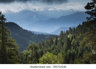 view over the mountains from Borjomi-Kharagauli National Park