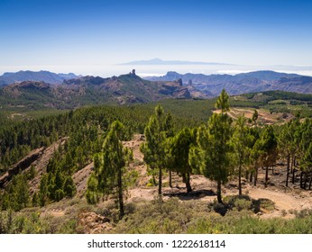 View over the mountains of Gran Canaria to Tenerife