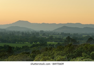 View over the Napa Valley at dusk