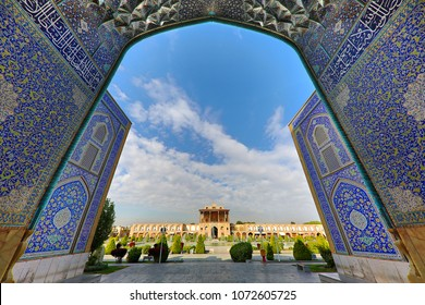 View over the Naqshejahan Square in Isfahan, Iran