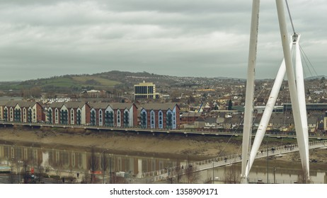 View over Newport Wales B, Winter 2019 horizontal photography