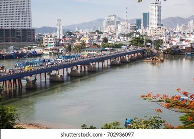 view over Nha Trang and river Kai from Po Nagar cham towers