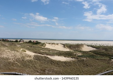 View over the North Sea island Amrum