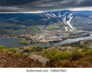 View over Øyer in Norway