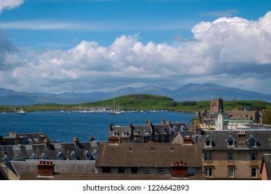 View over Oban, Scotland