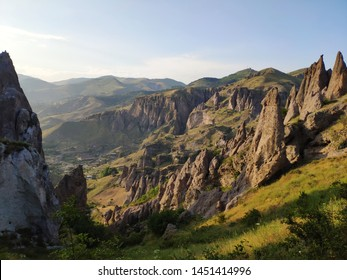 View over old Goris in Armenia from the mountain - Shutterstock ID 1451414996
