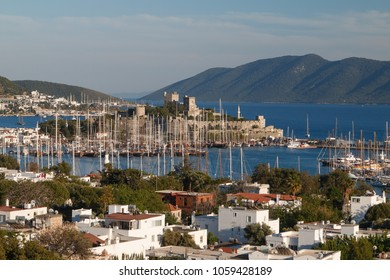 A view over old harbour of Bodrum, Turkey