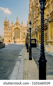 View over the old palace yard to Westminster hall, house of parliament, London