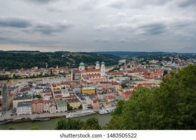 View over the old town of Passau in Lower Bavaria, Bavaria, Germany