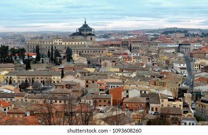 View over old town rooftops in Toledo, Spain