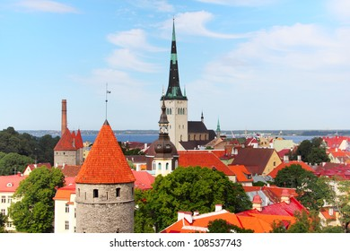 View over the Old Town of Tallinn, Estonia