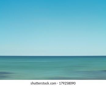 View over open summer water.