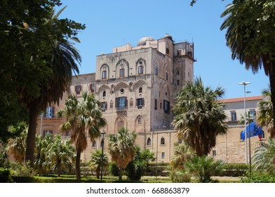 View over Palace of the Normans in Palermo