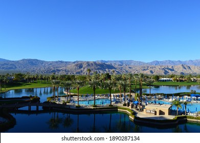 View over Palm Springs in California