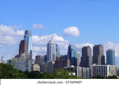 A view over Philadelphia, USA in a bright summer day.