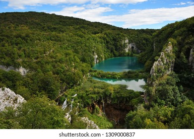 View over Plitvice Lakes, Croatia