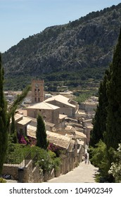 A view over Pollensa, Mallorca, from the Calvary Steps