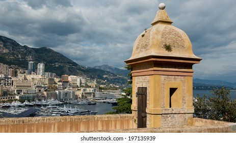 View over the port of Montecarlo, in the Principality of Monaco