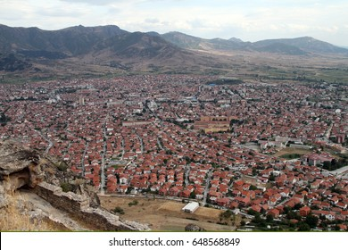 View over Prilep, Macedonia from Markovi Kuli (Marko's Towers), on Tuesday 10 September 2013