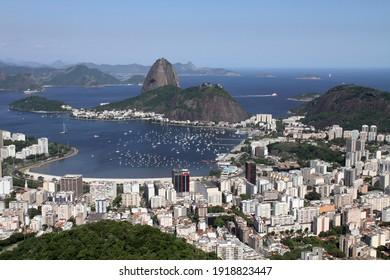 view over Rio de Janeiro and the Sugar Loaf
