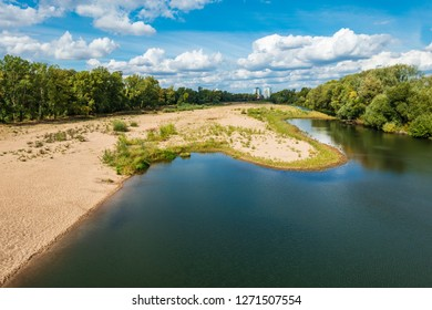 View over the river Elbe near Magdeburg, Germany.