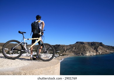 View over the Rocky coast near Agua Armada, Cabo de Gata, Spain