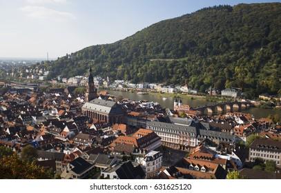 View over rooftops of Heidelberg