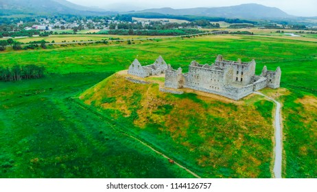 View over the Ruthven Barracks in Kingussie Scotland - Cairngorms National Park