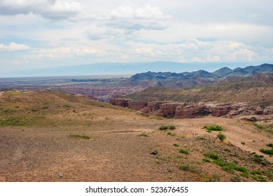 View over Sharyn or Charyn Canyon, Kazakhstan