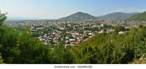 View over Sheki town in Azerbaijan.