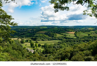 View over South Devon from Canonteign Falls - Devon, England