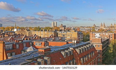 View Over South Kensington Rooftops in London UK