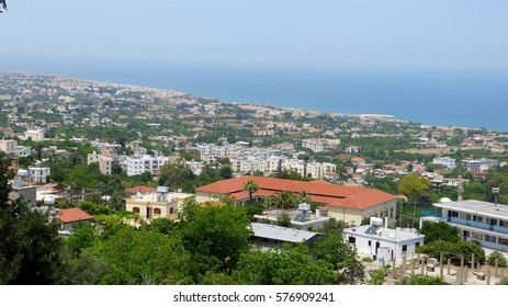 View over the sprawling village of Lapta in Cyprus.