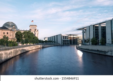View over the spree, Berlin Germany