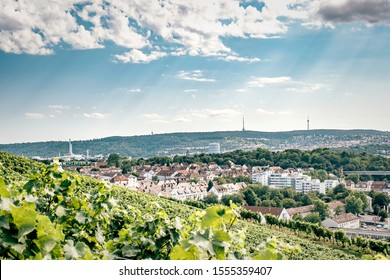 View over Stuttgart and the river Neckar, Germany