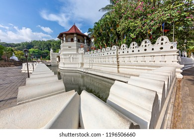 View over the Temple of Tooth Relic in Kandy, Sri Lanka