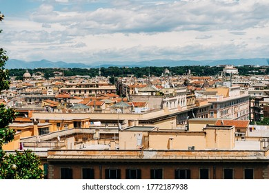 View over the terraces of Rome, Italy