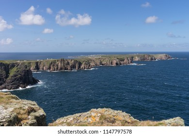 view over tory island on a clear and sunny day