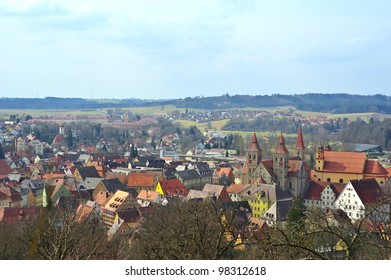 View over the town Ellwangen, Germany