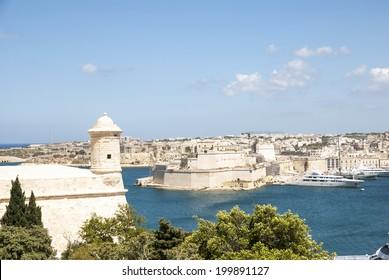 View over Valletta, capital city of Malta
