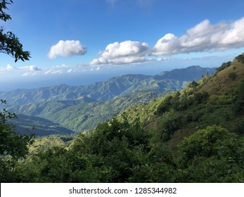 View over the valley from the Blue Mountains in Jamaica