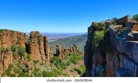 A view over the Valley of Desolation in the Camdeboo National Park in South Africa near the town of Graaff Reinet.