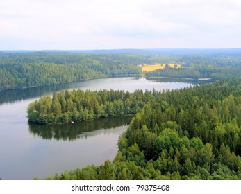 View over the vast Finnish landscape