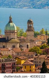 view over Verbania, Lago Maggiore in Northern Italy