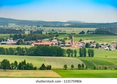 View over village of Gastern Lower Austria in summer.