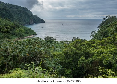 View over Wafers Bay Cocos Island Costa Rica