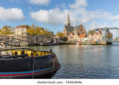 view over the water on the Marnixkade, Maassluis, The Netherlands
